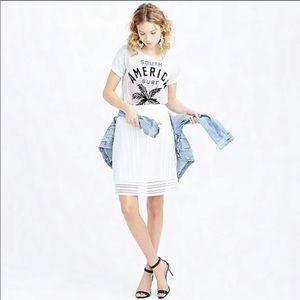 J. Crew White Skirt LIKE NEW